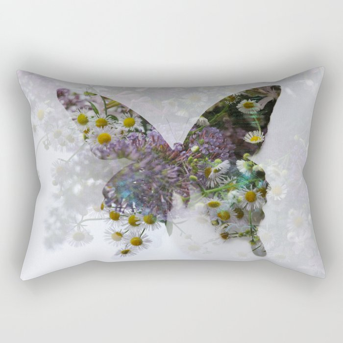 Beautiful floral butterfly Rectangular Pillow