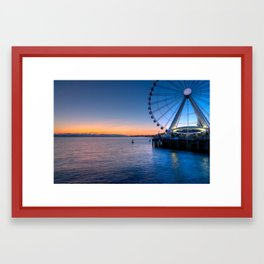 Seattles Great Wheel Framed Art Print