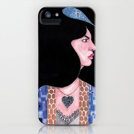 Blue(Klimt Inspired) Watercolor Painting by Grimmiechan iPhone Case