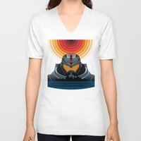 pacific rim V-neck T-shirts featuring Pacific Rim by milanova