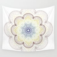 henna Wall Tapestries featuring Mandala Henna by Liz Slome