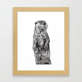 Otter Framed Art Print