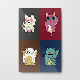 Adventure Time Lucky Cats Metal Print