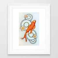 koi fish Framed Art Prints featuring Koi Fish by Eleni Kakoullis
