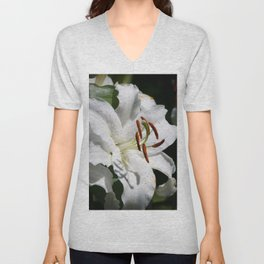 White Lily by Teresa Thompson Unisex V-Neck