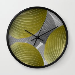 Beautiful Large Leaves #decor #society6 #buyart Wall Clock
