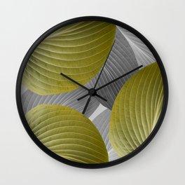 Beautiful Large Leaves #decor #society6 #buyart Wall Clock