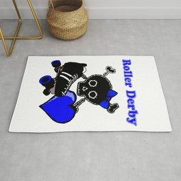 Roller Derby Heart (Blue) Rug