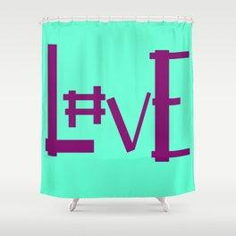 Seafoam Hashtag Love Shower Curtain