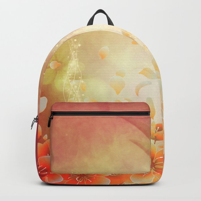 Elegant, colorful floral design Backpack