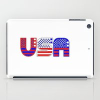 usa iPad Cases featuring USA by Brian Raggatt