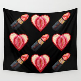 Love and Lipstick Wall Tapestry
