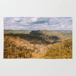 A Shadow Across the View, Red River Gorge, Kentucky Rug