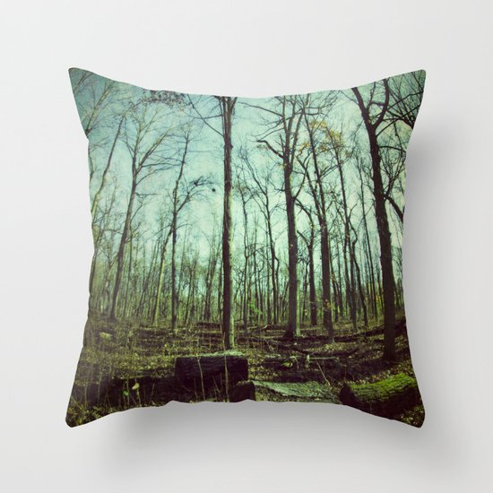 Where Giants Walk Throw Pillow