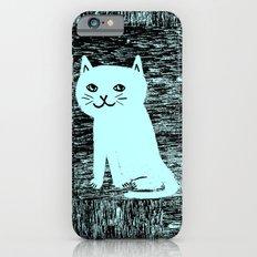 Wood grain cat iPhone 6s Slim Case