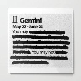 Gemini 1 Metal Print