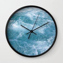 Crystal Blue Waves Wall Clock