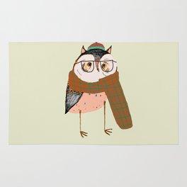 Owls Love Scarfs.  Rug