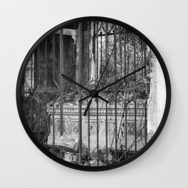 old gate & grave Wall Clock