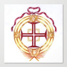 Templar cross. Cruz Templária Canvas Print