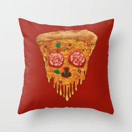 Pizza de Los Muertos Throw Pillow