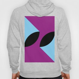 Two 3d seeds being thrown strongly, in a purple space. Hoody