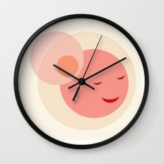 Miss Sunshine in a hat Wall Clock