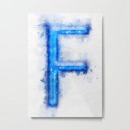 F Letter Metal Print