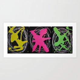 Splash Brights  Art Print
