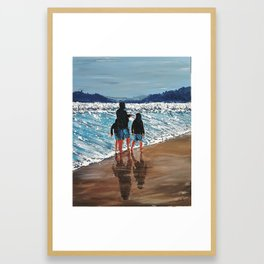 A storm will leap from its lair waves whipped up, and a wind is wailing  A storm will leap from i Framed Art Print