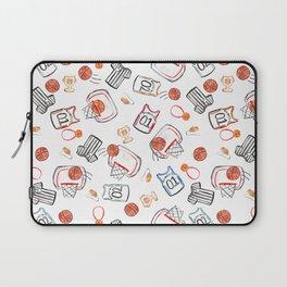 Basketball Watercolor Sports Pattern Laptop Sleeve