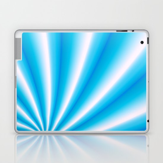 pale blue and white  Laptop & iPad Skin