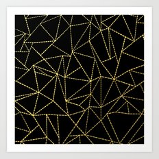 Ab Dotted Gold Art Print