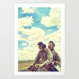 Best Buds - Dumb and Dumber - jim carrey, movie poster Art Print
