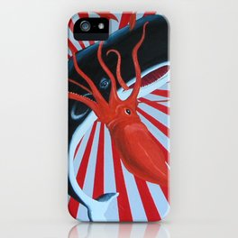 squid and whale iPhone Case