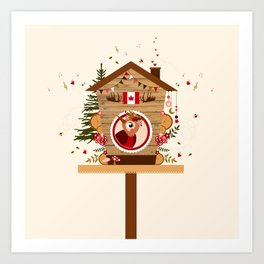 Cabane à oiseau au Canada Art Print