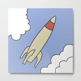 Rocket picture from Bart Simpson's bedroom Metal Print