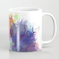 water colour Mugs featuring Water Colour Kaleidoscope by a little Piece of Pie