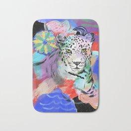 Electric Leopard Bath Mat