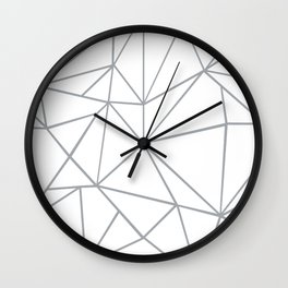 Ab Outline 2 Grey on White Wall Clock
