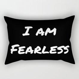 I AM FEARLESS BLACK Rectangular Pillow