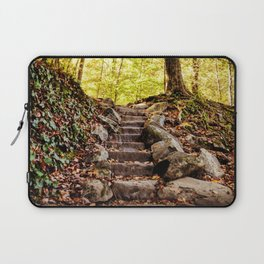 Rock Stairway Cades Cove Tennessee by Alli Gunter Photography Laptop Sleeve