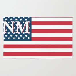 New Mexico American Flag Rug