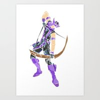 clint barton Art Prints featuring Clint Barton by Tegan New