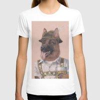 german shepherd T-shirts featuring German Shepherd by Rachel Waterman