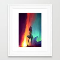 emily rickard Framed Art Prints featuring EMILY by Julia Wei