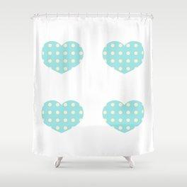 Hearts2 Shower Curtain