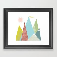 Mountain Peaks! Framed Art Print