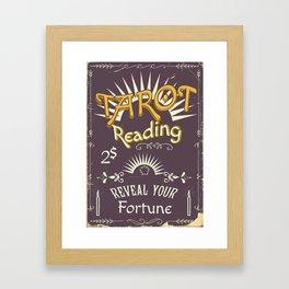Tarot Reading vintage chalk poster Framed Art Print