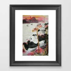 romantic evening Framed Art Print